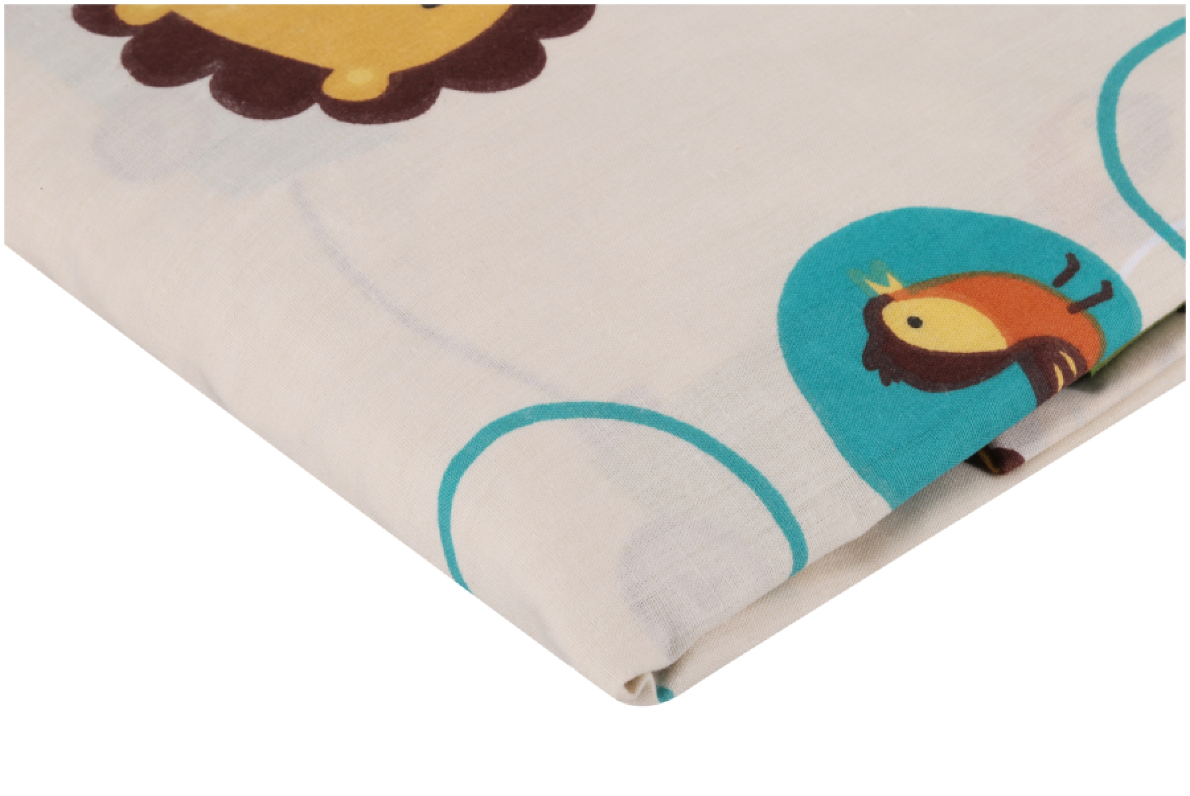 Bedtime Originals Jungle Buddies Sheet,Brown//Yellow,55/% Cotton and 45/% Polyester