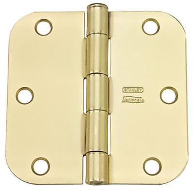 """RCP512R58 12 Pack 3-1/2"""" Satin Brass Residential Hinge 5/8"""" Radius"""
