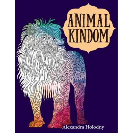 Animal Kingdom Coloring Book 40 Stress Relieving Bird And Wild Designs For Adults