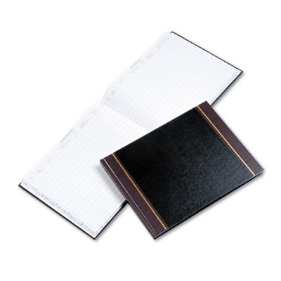 Detailed Visitor Register Book, Black Cover, 208 Ruled Pages, 9 1 2 x 12 1 4, Sold as 1 Each by