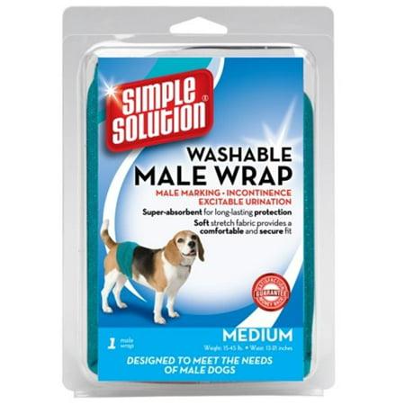 Pet Fulfillment 024BRA-11241 Simple Solution Washable Male Diaper Garment Wrap ()