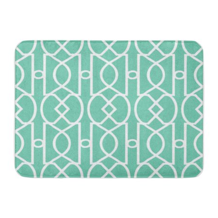 SIDONKU Accessory Art Deco Trellis Pattern Seamless Vector Background Tile All Doormat Floor Rug Bath Mat 30x18 - Art Deco Door