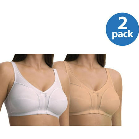 Fruit of the Loom Wirefree Bra, Style 96825, 2 Pack Value Bundle