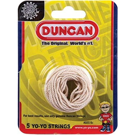 Yo-Yo String [White] - Pack of 5 Cotton String for Plastic, Metal Yo-Yos, Yo-Yo String: this cotton string is compatible with Duncan metal and plastic yo-yos..., By Duncan - Yo Yos