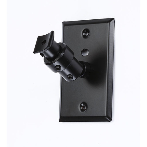 Pinpoint Mounts Universal Speaker Wall Ceiling Mount with Electrical Box Installation Adapter Plate in Black