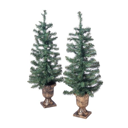 holiday time 35ft twin pre lit artificial christmas trees with 35 clear lights
