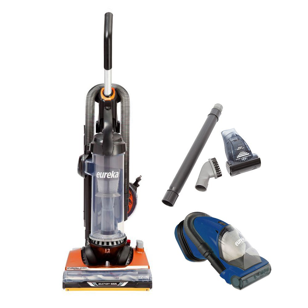 Eureka Brushroll Clean SuctionSeal Bagless Upright Vacuum w/ Blue Handheld Vac