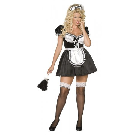 Sexy French Maid Plus Size Adult Costume - Plus Size 1X - French Maid Costumes Plus Size