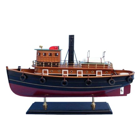 - River Rat Tugboat - Wooden Model Fishing Boat - Model Fishing Boat Replica - Nautical Decoration - Wood Fishing Boat Model - Toy Fishing Boat - Model