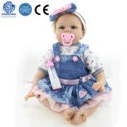 "Zimtown Reborn Baby Doll Realistic Newborn Lifelike Vinyl Girl Baby Doll Handmade 22"""