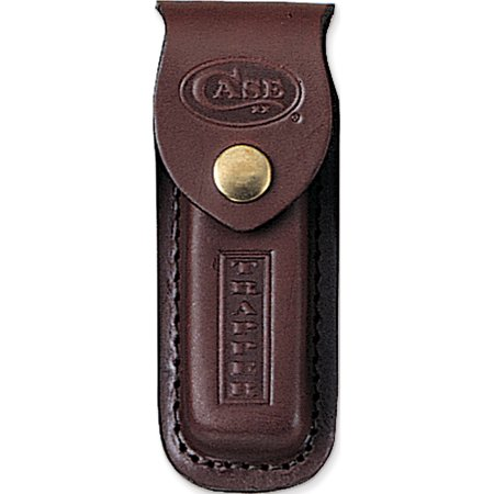 Case Genuine Leather W/Stamped Logo Trapper Knife Sheath Designer Jewelry by Sweet Pea