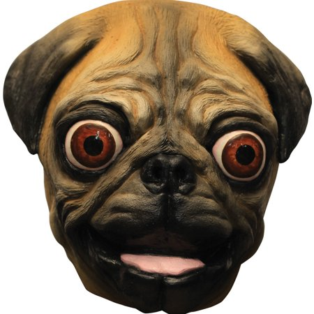 Pug Mask Adult Halloween Accessory - Halloween Ghoulish Appetizers