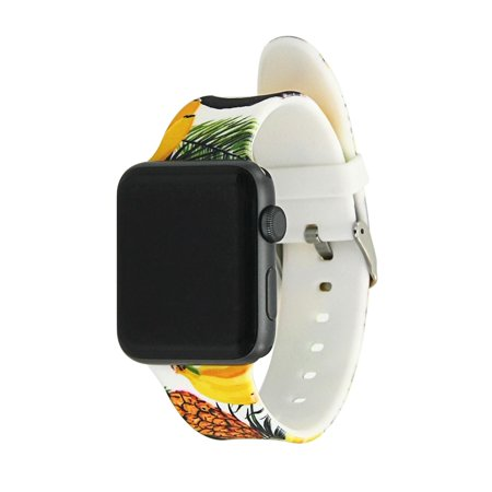 Wrist Apple watch band 38mm/42mm: Silicone Watch Band With Pattern Style Replacement Bands for Apple Watch Series 1 & 2 (38mm) - Floral with Bananas Wrist Apple watch band 38mm/42mm: Silicone Watch Band With Pattern Style Replacement Bands for Apple Watch Series 1 & 2 (38mm) - Floral with Bananas