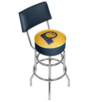 NBA Swivel Bar Stool with Back - City - Indiana Pacers