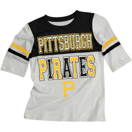 MLB Pittsburgh Pirates Girls Short Sleeve White Graphic Tee for $<!---->