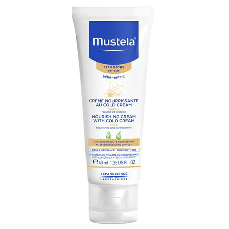 Mustela Baby Nourishing Cream with Cold Cream, Baby Face Cream for Dry Skin, 1.4