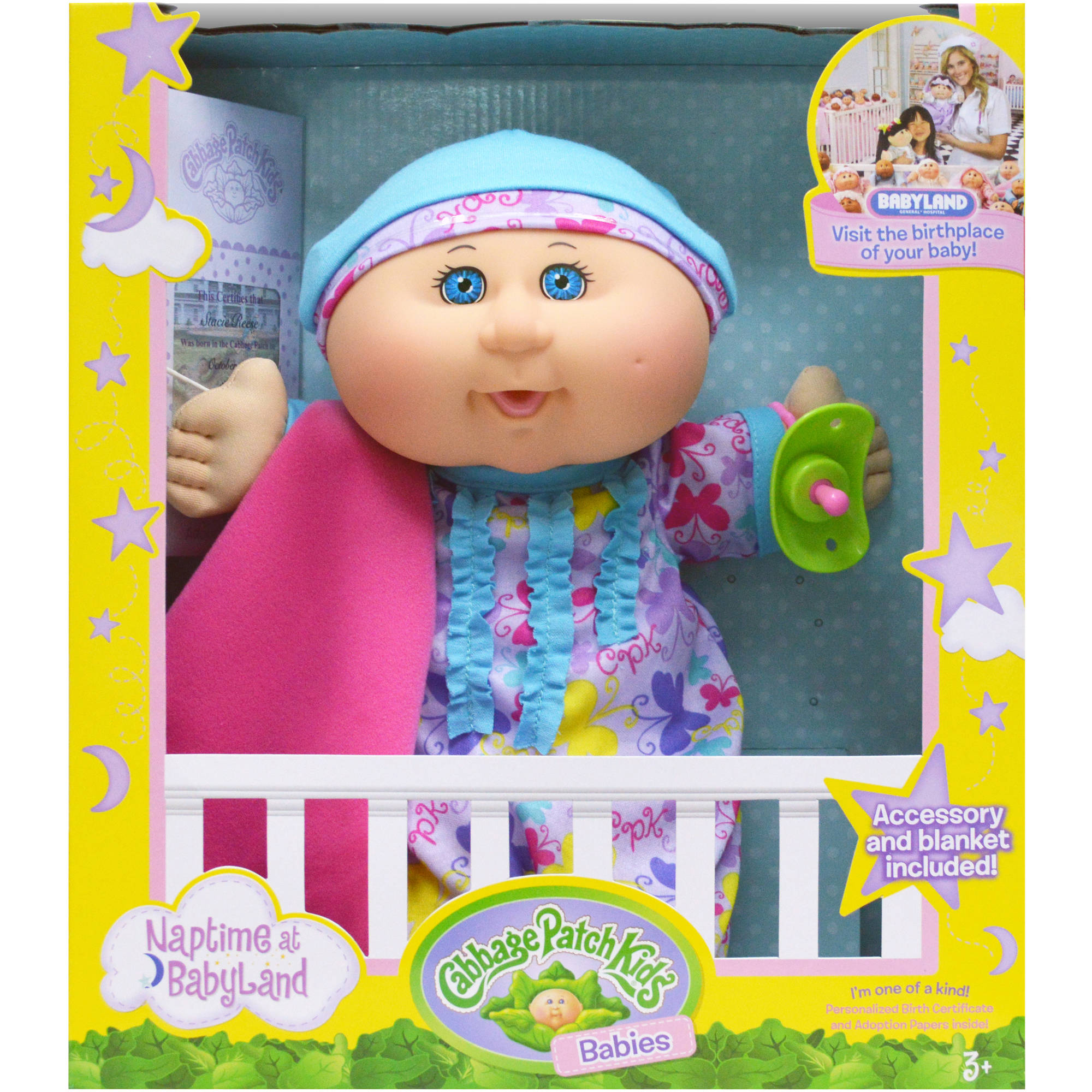 Cabbage Patch Kids Naptime Babies Doll, Blonde Hair/Blue Eye Girl