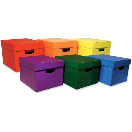 Classroom Keepers, PAC001333, Storage Tote Assortment, 6 / Pack, Assorted