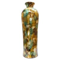 Heather Ann Creations Tinsley 32 in. Foiled and Lacquered Floor Vase