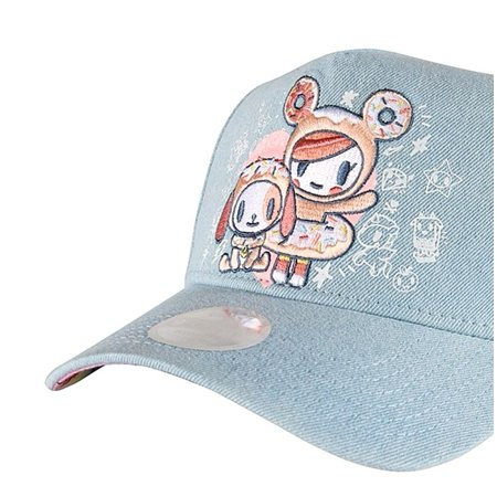 5031f605dbf tokidoki - Tokidoki Embroidered Donut New Era 9Forty Women s Blue Denim  Snapback Hat OSFM - Walmart.com