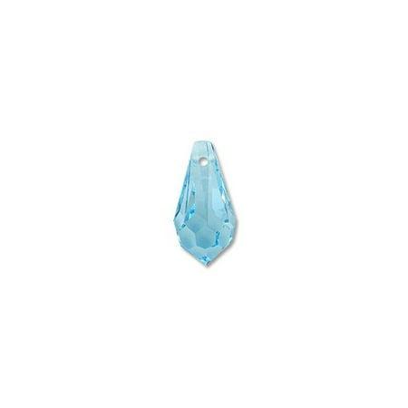 - Swarovski Crystal Drop Pendant 6000 11x5.5mm Aquamarine (Package of 1)