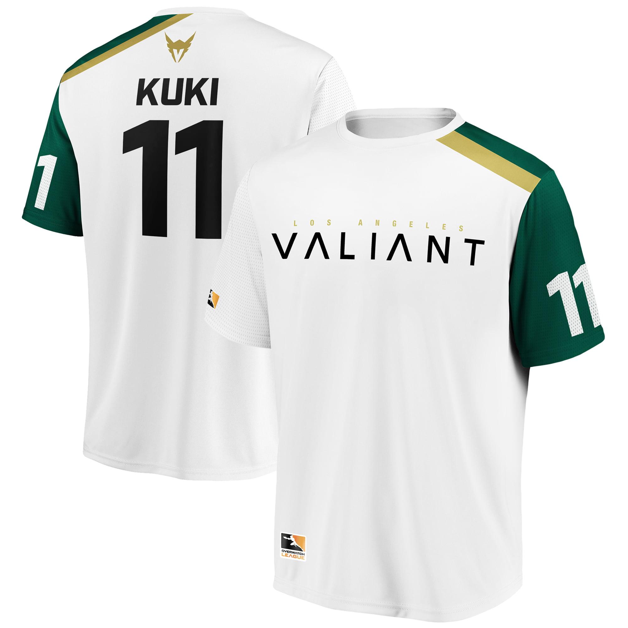 KuKi Los Angeles Valiant Overwatch League Replica Away Jersey - White