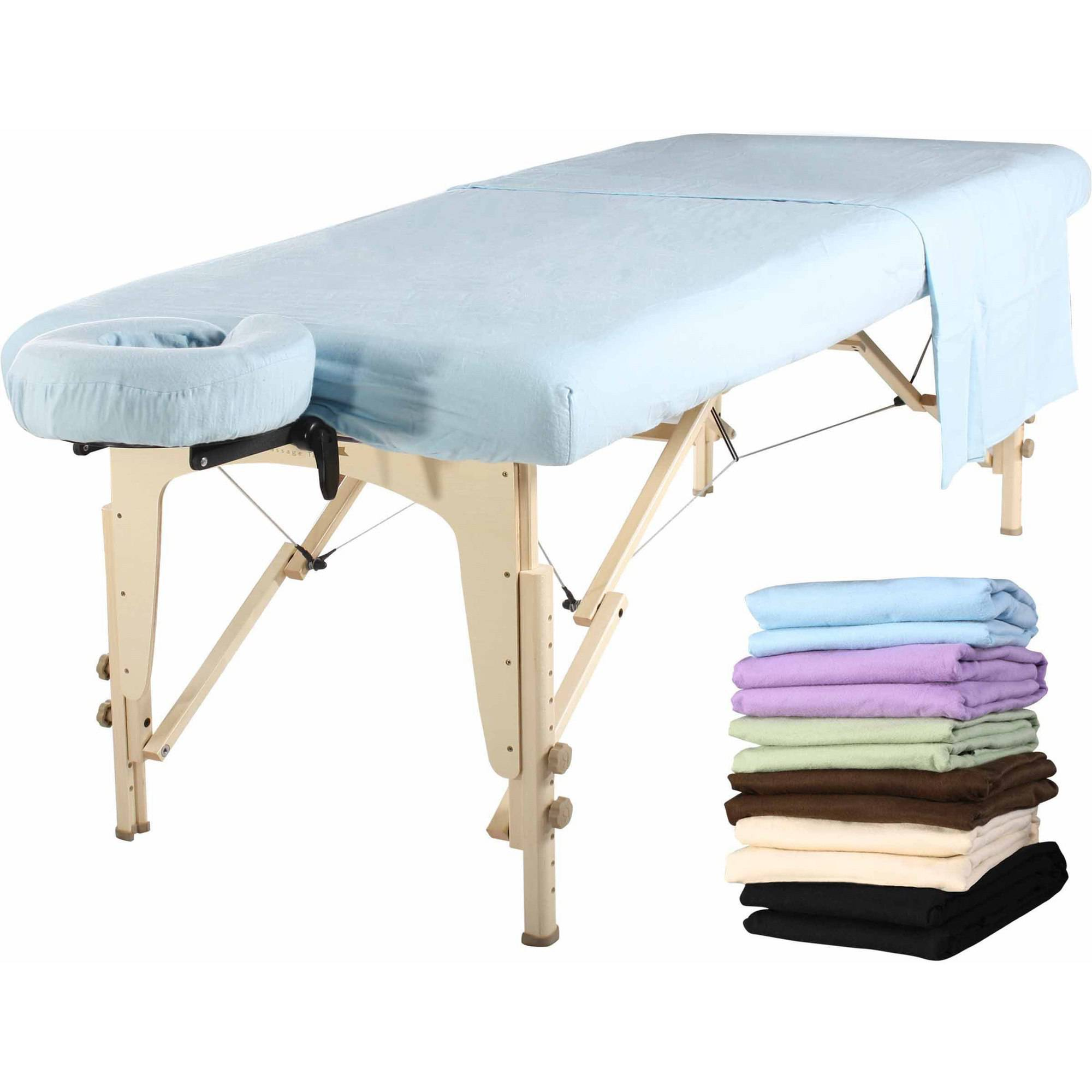 Mt Massage Universal Flannel Sheet Set 3-in-1 Table Cover, Face Cushion Cover, Table Sheet