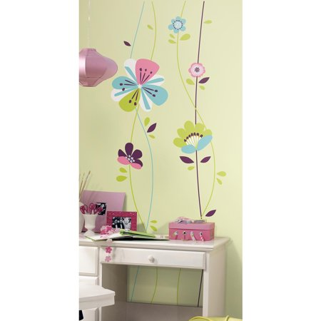 sugar blossom peel and stick giant wall decals. Black Bedroom Furniture Sets. Home Design Ideas