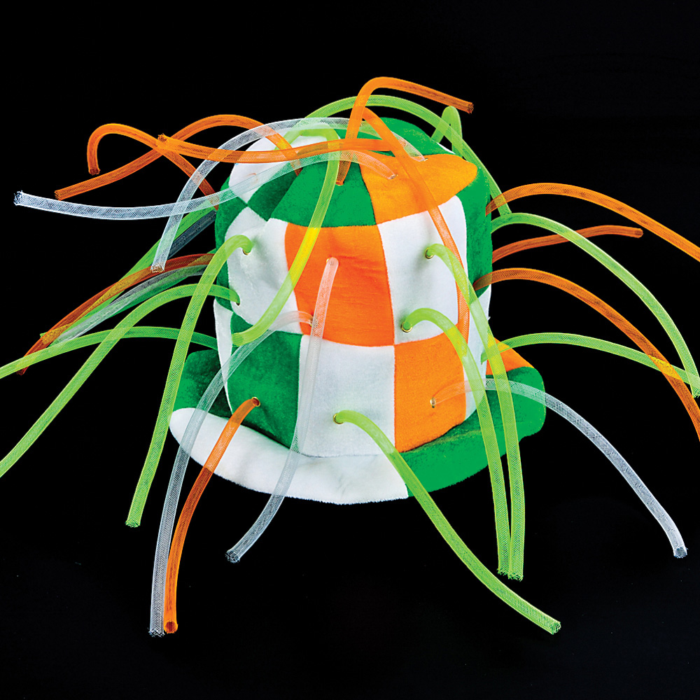 St Patricks Day Stove Top Tentacle Hat Irish Tri-Color One Size Party Wear