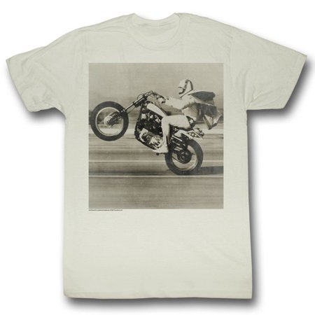 Evel Knievel Icons Wheelie Adult Short Sleeve T Shirt (Evel Knievel Shirt)