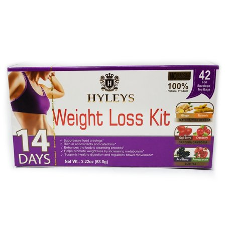 Hyleys 14 Day Weight Loss Kit 42 Foil Envelope Tea - Personalized Tea Tins
