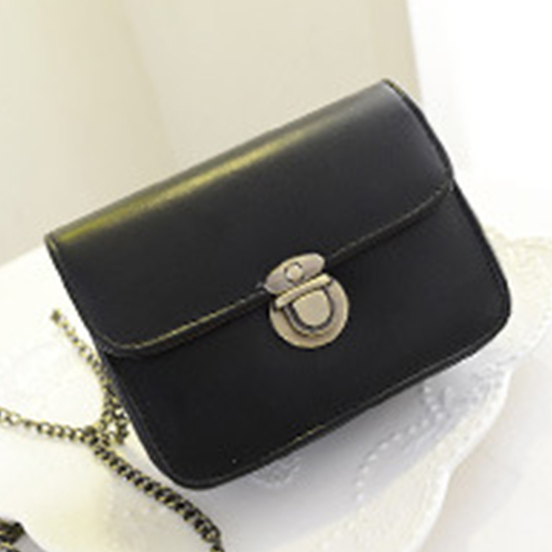 Women Retro Mini Chain Shoulder Bag Crossbody Cellphone Bag Handbag Purse