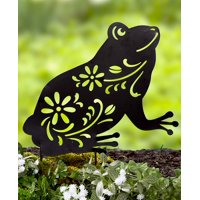 Animal Silhouette Stakes Choice of Cat, Dog, Bunny, or Frog (Frog)