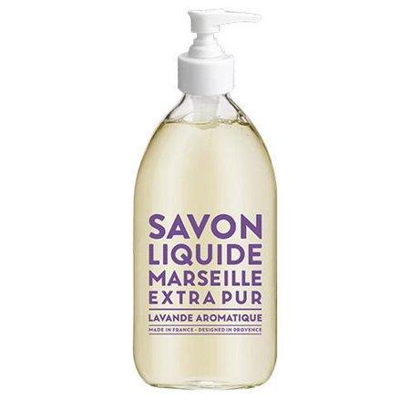 Compagnie de Provence Aromatic Lavender Liquid Marseille Soap, 16.9 Oz Glass