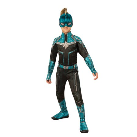 Halloween Avengers Captain Marvel Kree Suit Child Costume (Blue Morph Suits)