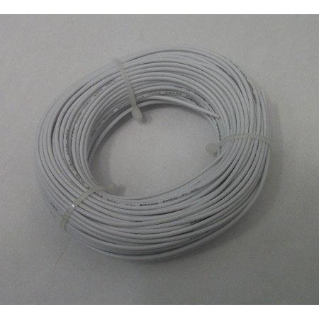 22 AWG tinned copper stranded hook up wire, 100 feet per White UL1007
