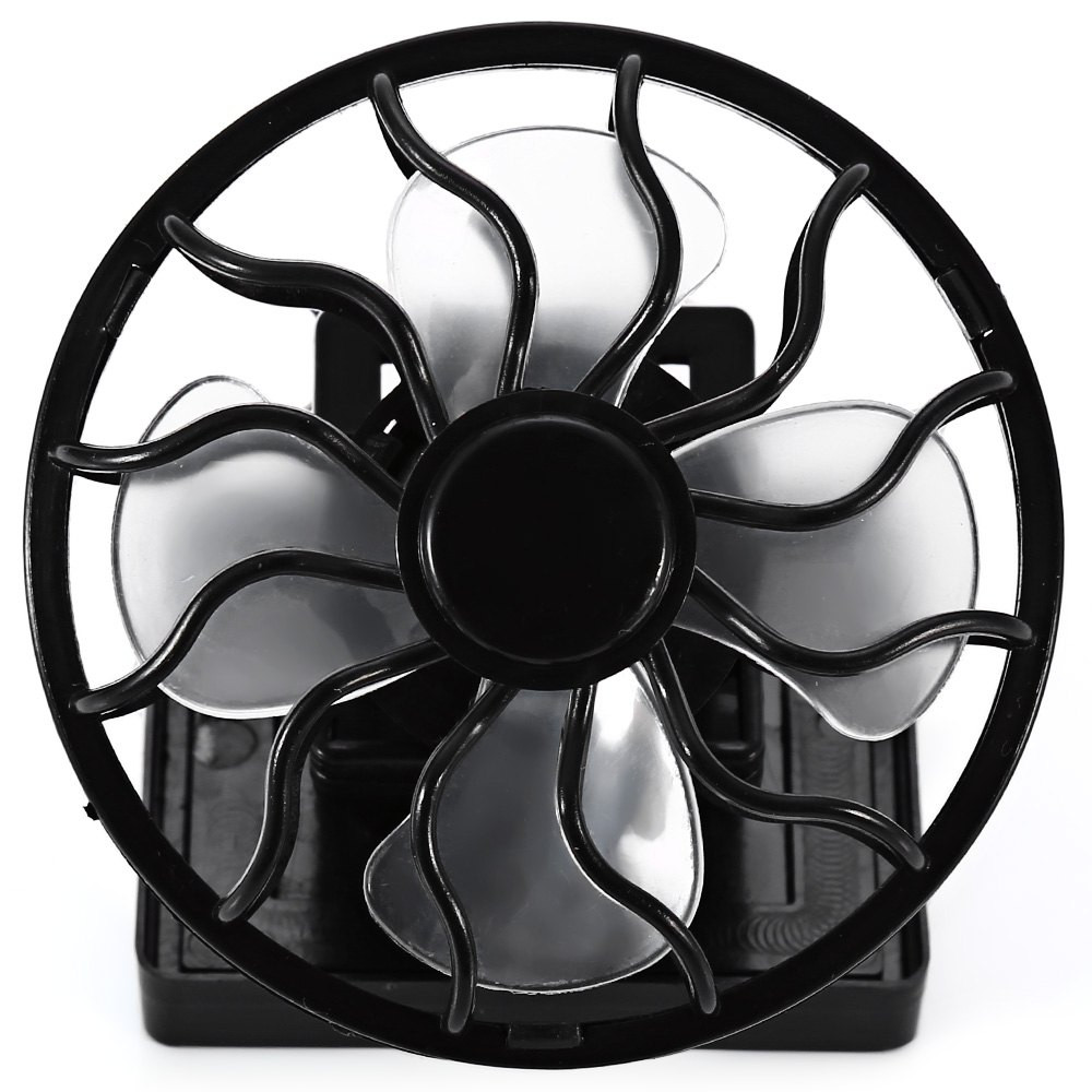 New energy saving Clip-on Solar Cell Fan Sun Power energy Panel Cooling Black