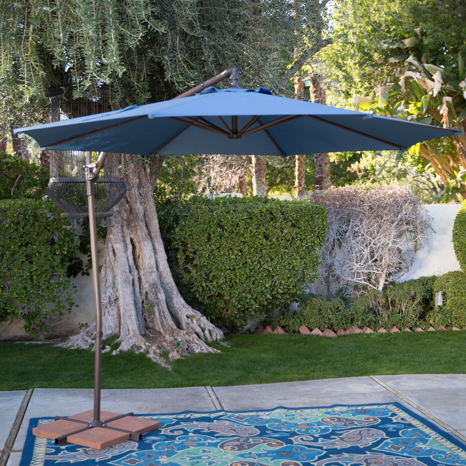 Coral Coast 9 ft. Steel Offset Patio Umbrella