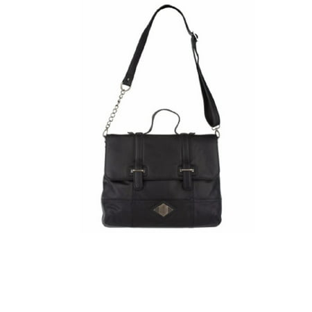 Luxe Rachel Zoe Leather Medium Flap Crossbody Satchel, Black](Zoe Ball In Leather)