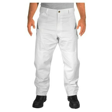 Rugged Blue Double Knee Painters Pants - White - 42x32