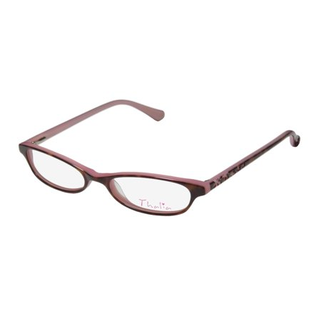 New Thalia Clavel Womens/Ladies Cat Eye Full-Rim Tortoise / Pink Cute Cat Eye For Young Women Frame Demo Lenses 48-16-130 Spring Hinges (Cartier Spectacle Frames Prices)