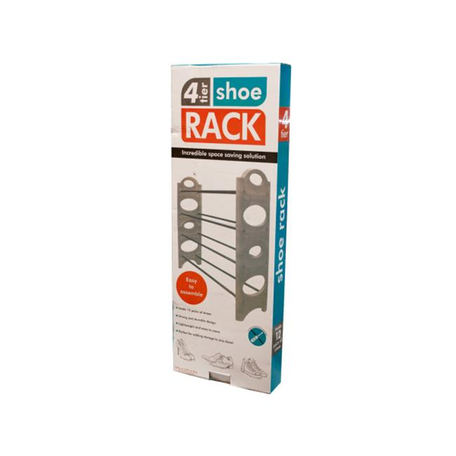 Bulk Buys OD426-2 4-Tier Shoe Rack by Bulk Buys