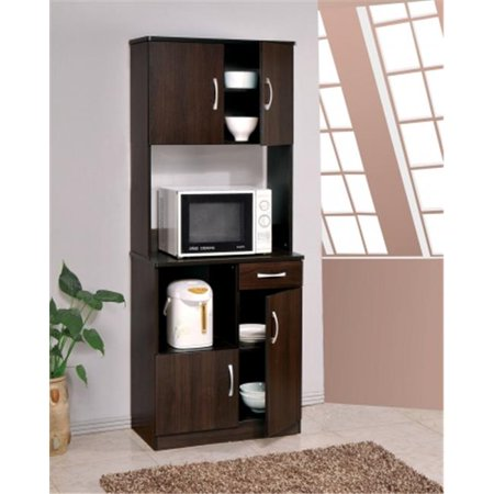 Acme Furniture Industry 12258 Quintus Kitchen Cabinet With Hutch In Espresso