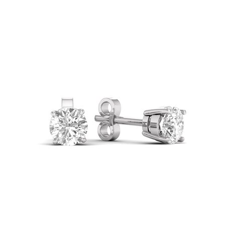 1/6 Carat T.W. Diamond 10kt White Gold Classic Stud Earrings