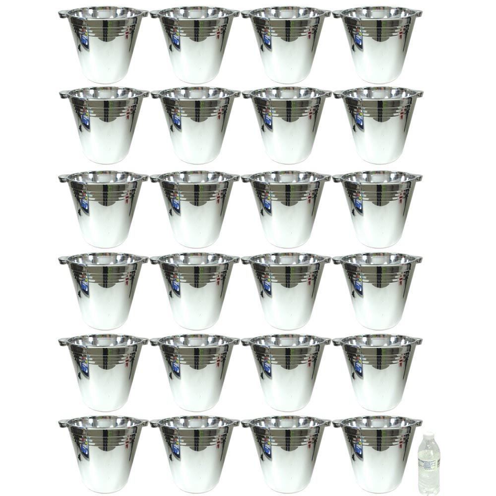 24 Plastic Reusable Ice Buckets 5.9L Tubs Cooler Wine Champagne Bar Beer Chiller by Regent Products