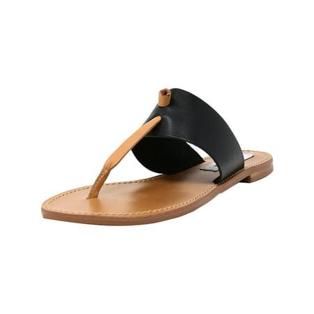 Black Multi Leather - Steve Madden Women's Olivia Black Multi Leather Sandal - 9.5M