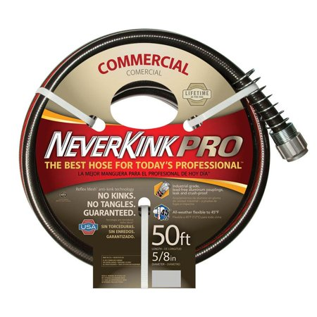 NeverKink 8844-50 Series 4000 Commercial Duty Pro Garden Hose, 5/8-Inch by 50-Feet (Neverkink Commercial)