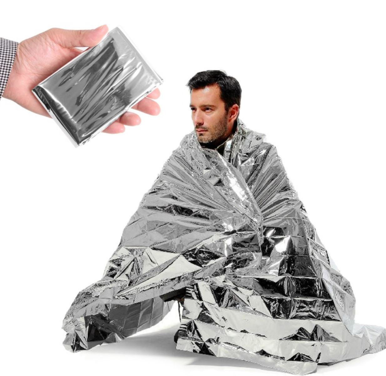 Emergency Blankets Solar Rescue Space Thermal Mylar Heat Insulating Survival