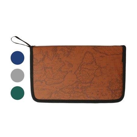 Travel Cd Holder (80 Sleeve CD DVD Blu Ray Disc Carry Case Holder Bag Ring Binder Wallet Storage)