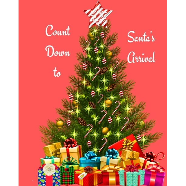 countdown to santa s arrival christmas kids 30 day countdown journal notebook to help your excited kids write their feeling and draw how they are f walmart com walmart com walmart